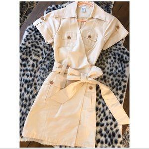 Diane Von Furstenberg Silk Safari Wrap Dress